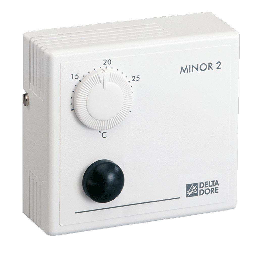 Delta dor - DDO6151024 - DELTA DORE MINOR 2 - 6151024 - Thermostat à molette pour plancher ou plafond rayonnant