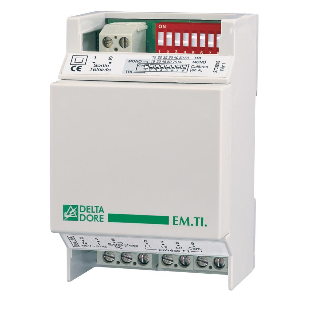 Delta dor - DDO6250031 - DELTA DORE EM T.I. - 6250031 - Emetteur télé-info pour recréer le signal d'un compteur électronique