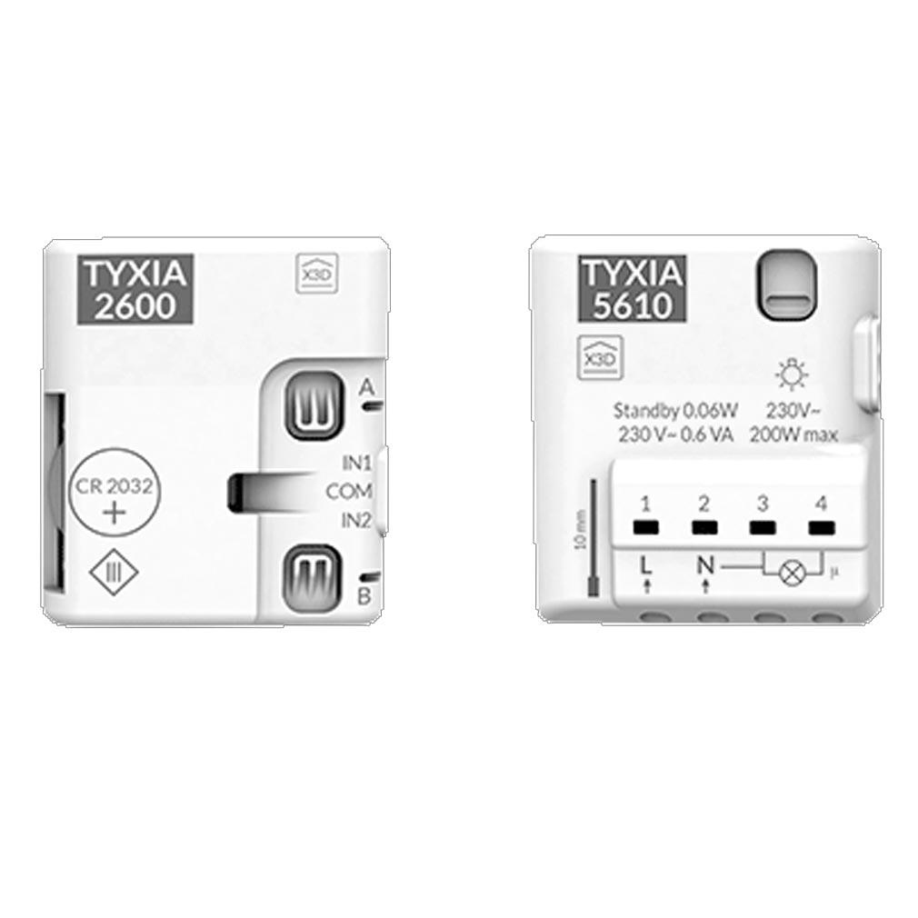 Delta dor - DDO6351407 - DELTA DORE PACK TYXIA 501 - 6351407 - Pack éclairage marche/arrêt avec 2 interrupteurs sans fil