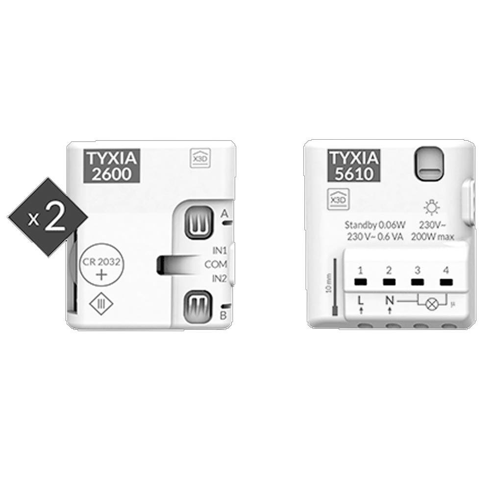 Delta dor - DDO6351408 - DELTA DORE PACK TYXIA 511 - 6351408 - Pack d'ajout d'interrupteur pour éclairage connecté