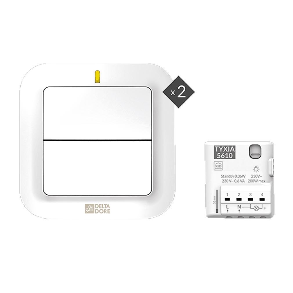 Delta dor - DDO6351410 - DELTA DORE PACK TYXIA 611 - 6351410 - Pack éclairage pour ajout d'un interrupteur supplémentaire sans fil