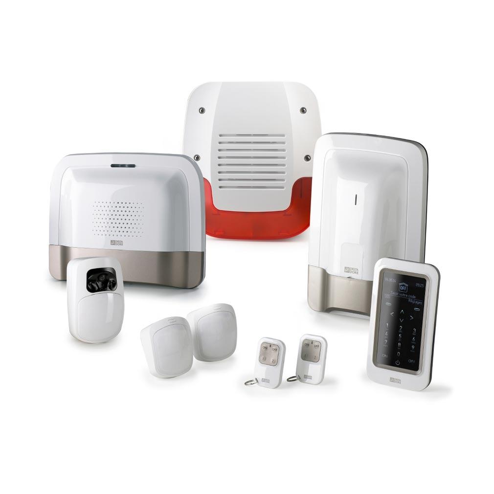 Delta dor - DDO6410178 - DELTA DORE PACK TYXAL+ VIDEO - 6410178 - Pack alarme et vidéo sans fil avec suivi sms et détecteur vidéo prêt à l'emploi