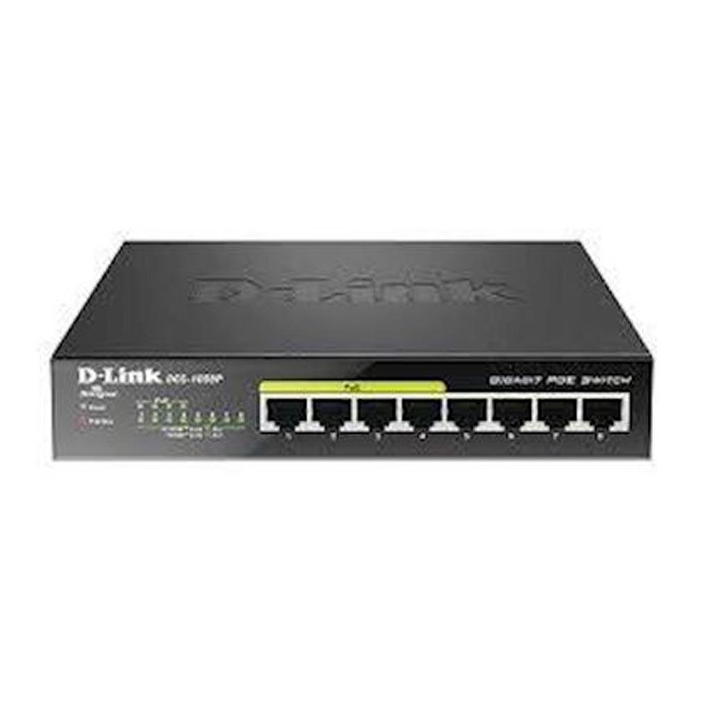 Dlink - DLKDGS1008P - DLINK DGS1008P - SWITCH 8X10/100/1000 DONT 4 POE 52W