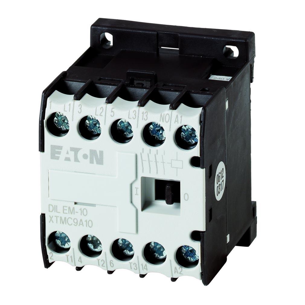Eaton - EON000010005 - DILEM-10(24V50HZ) - CONTACTEUR DE PUISSANCE, 3P+1F, 4KW/400V/AC3