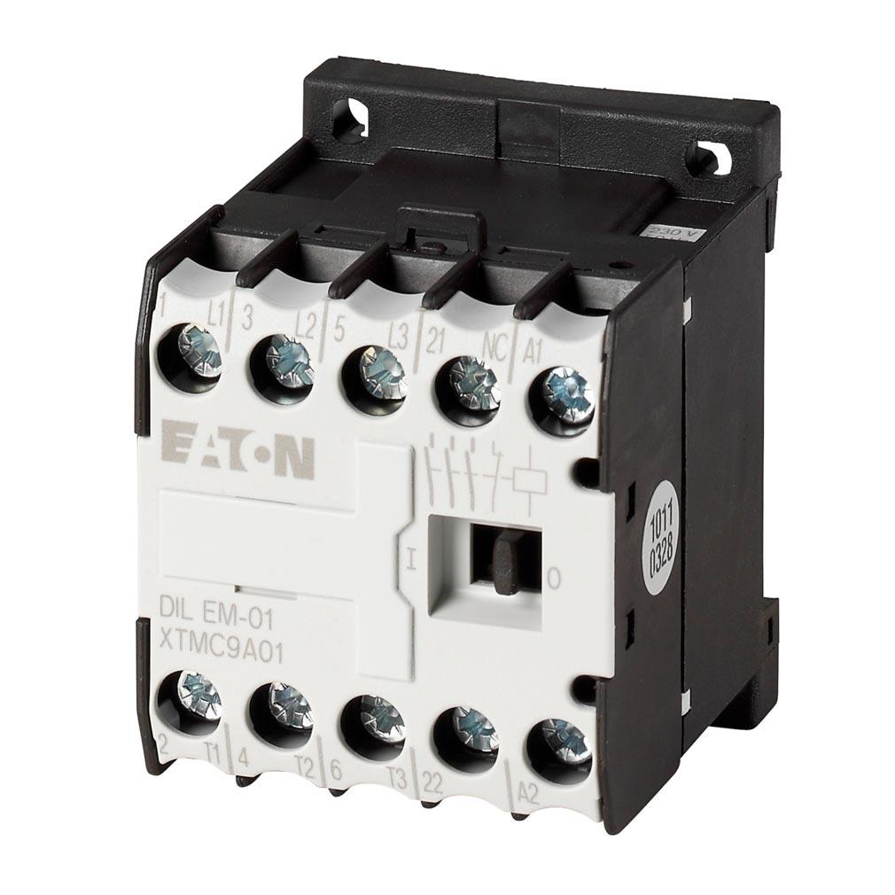 Eaton - EON000010086 - DILEM-01(24V50HZ) - CONTACTEUR DE PUISSANCE, 3P+1O, 4KW/400V/AC3