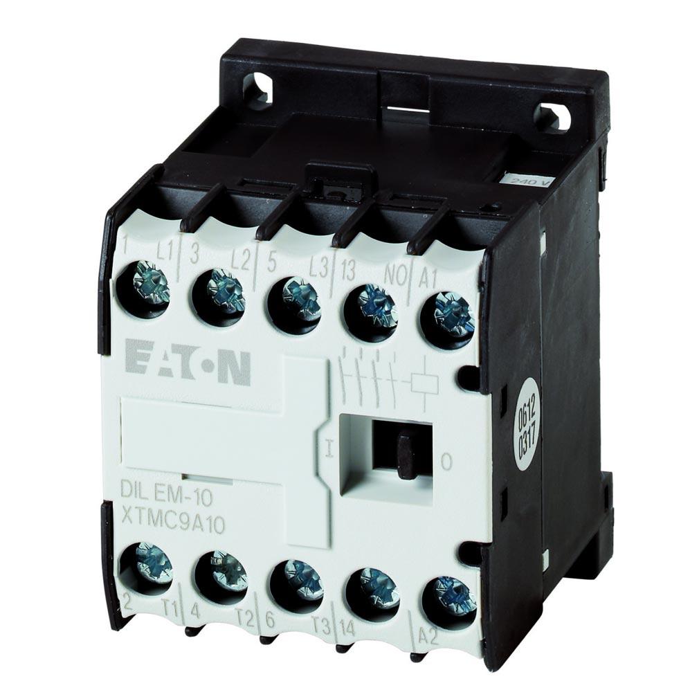Eaton - EON000010213 - EATON DILEM-10-G(24VDC) - 000010213 - CONTACTEUR DE PUISSANCE, 3P+1F, 4KW/400V/AC3