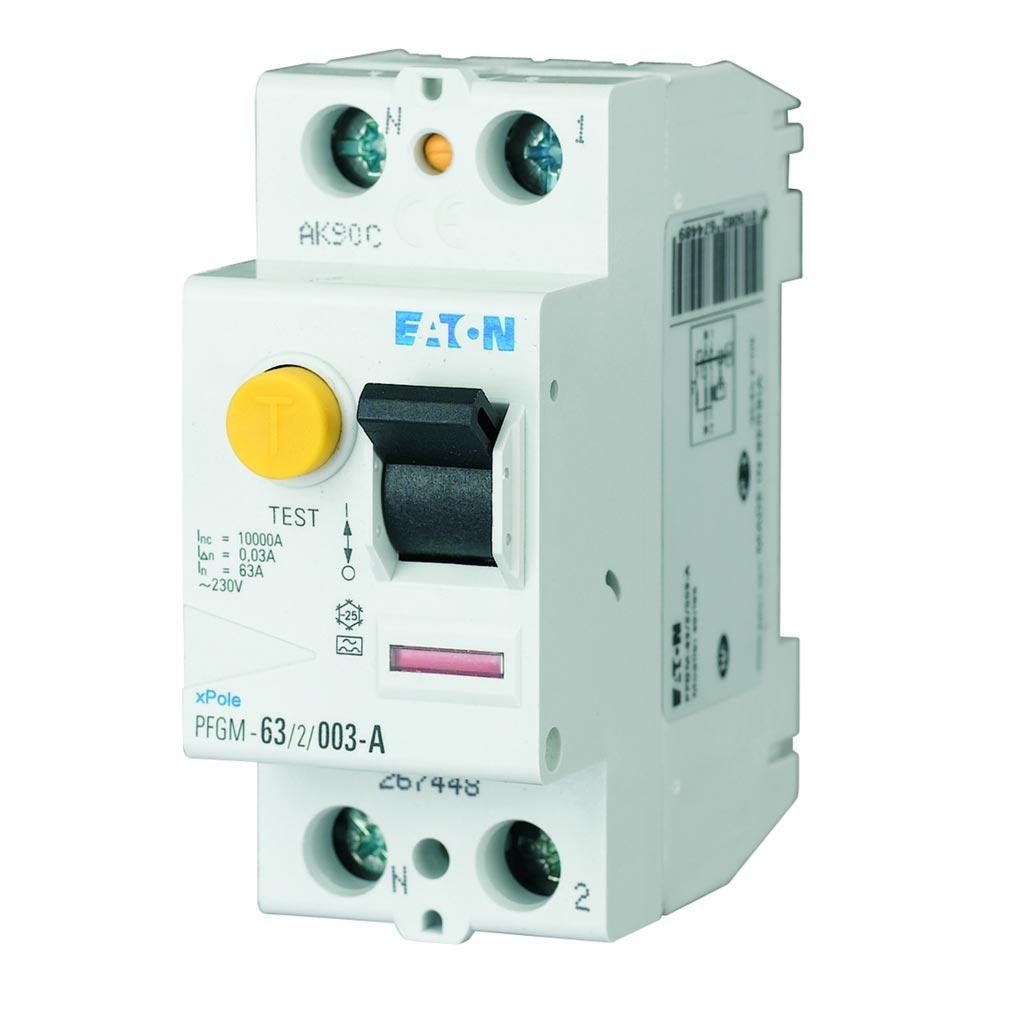 Eaton - EON000264288 - PFGM-63/2/03 - INTER DIFF 2X63A 300MA TYPE AC