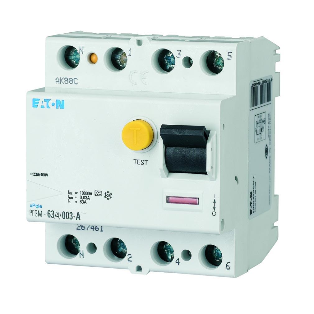 Eaton - EON000264308 - EATON PFGM-63/4/03 - 000264308 - INTER DIFF 4X63A 300MA TYPE AC