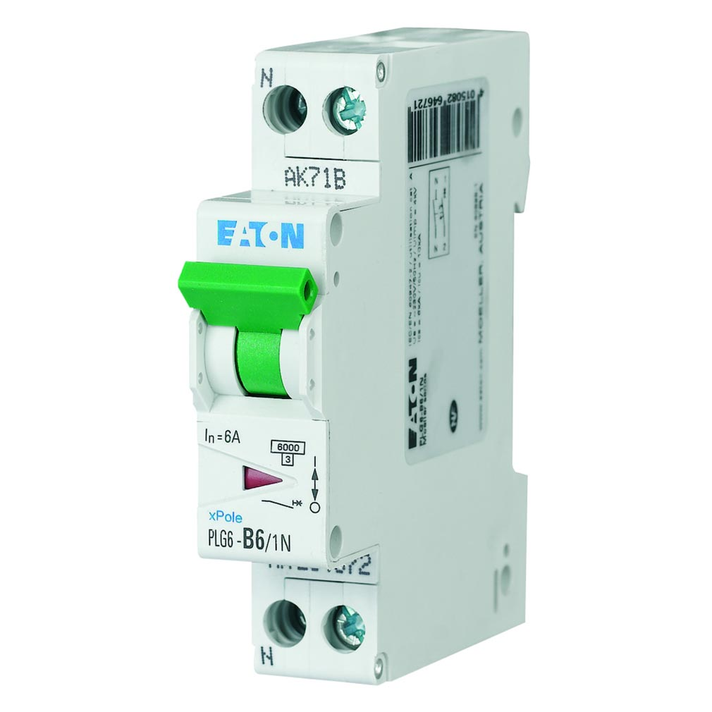Eaton - EON000264690 - PLG6-C2/1N - DISJ PH+N 2A 10KA (EN 60947-2) CBE C