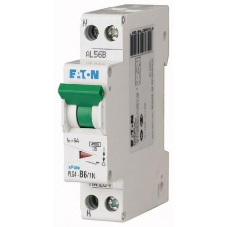 Eaton - EON000264742 - PLG4-C4/1N - ISJ PH+N 4A 4,5KA (EN 60898) CBE C
