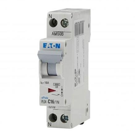 Eaton - EON000264743 - PLG4-C6/1N - DISJ PH+N 6A 4,5KA (EN 60898) CBE C