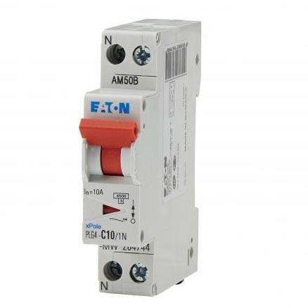 Eaton - EON000264744 - PLG4-C10/1N - DISJ PH+N 10A 4,5KA (EN 60898) CBE C