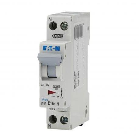 Eaton - EON000264748 - PLG4-C25/1N - DISJ PH+N 25A 4,5KA (EN 60898) CBE C