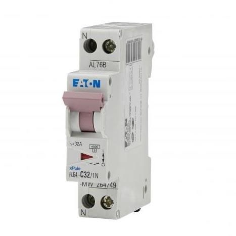 Eaton EON000264749 - PLG4-C32/1N - DISJ PH+N 32A 4,5KA (EN 60898) CBE C
