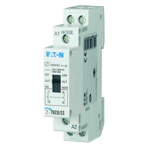 Eaton - EON000265574 - RELAIS AVEC PRESELECTION, 230VAC/50HZ, 2 S, 20A, 1 MODULE