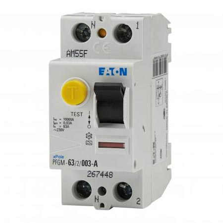 Eaton - EON000267448 - EATON PFGM-63/2/003-A -  Inter diff 2x63A 30mA type A