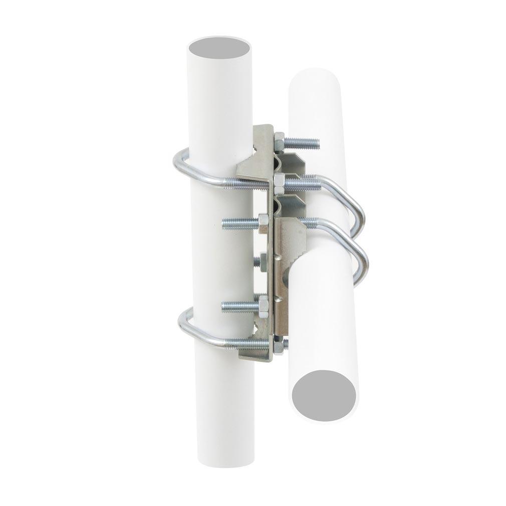 Erard - EAD800998 - Fixation 2 tubes UNIVERSELLE / MAT D.25 A 50 - ZINC BLANC