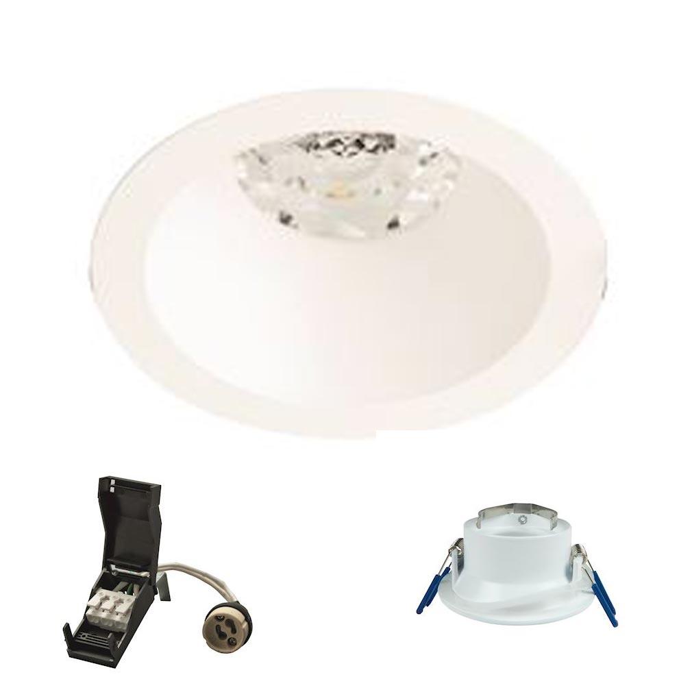 Europole - POL26810 - EUROPOLE 26810 - DECO rond blanc mat fixe GU10 IP20