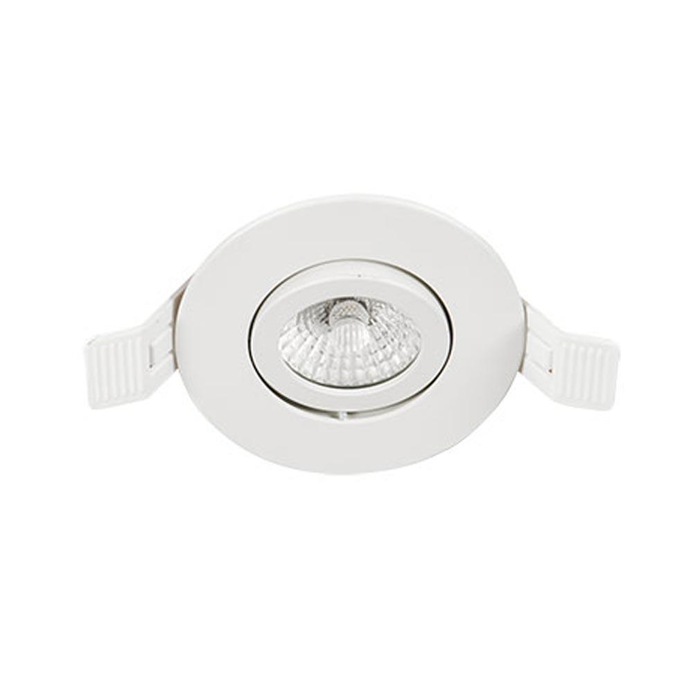 Europole - POL575061 - EUROPOLE 575061 - LED'UP DESIGN BL R 8W 4000K 60 - LED'UP DESIGN rond blanc mat 8W 640lm 4000K 60° ori. IP65 BBC RT2020 TRIAC