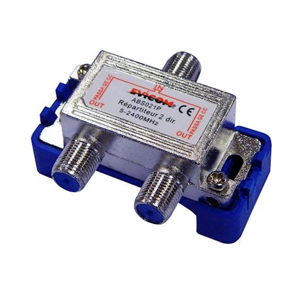 Evicom - EVCABS021P - EVICOM  ABS021P -  Répartiteur 5 - 2.300 MHz 2 sorties