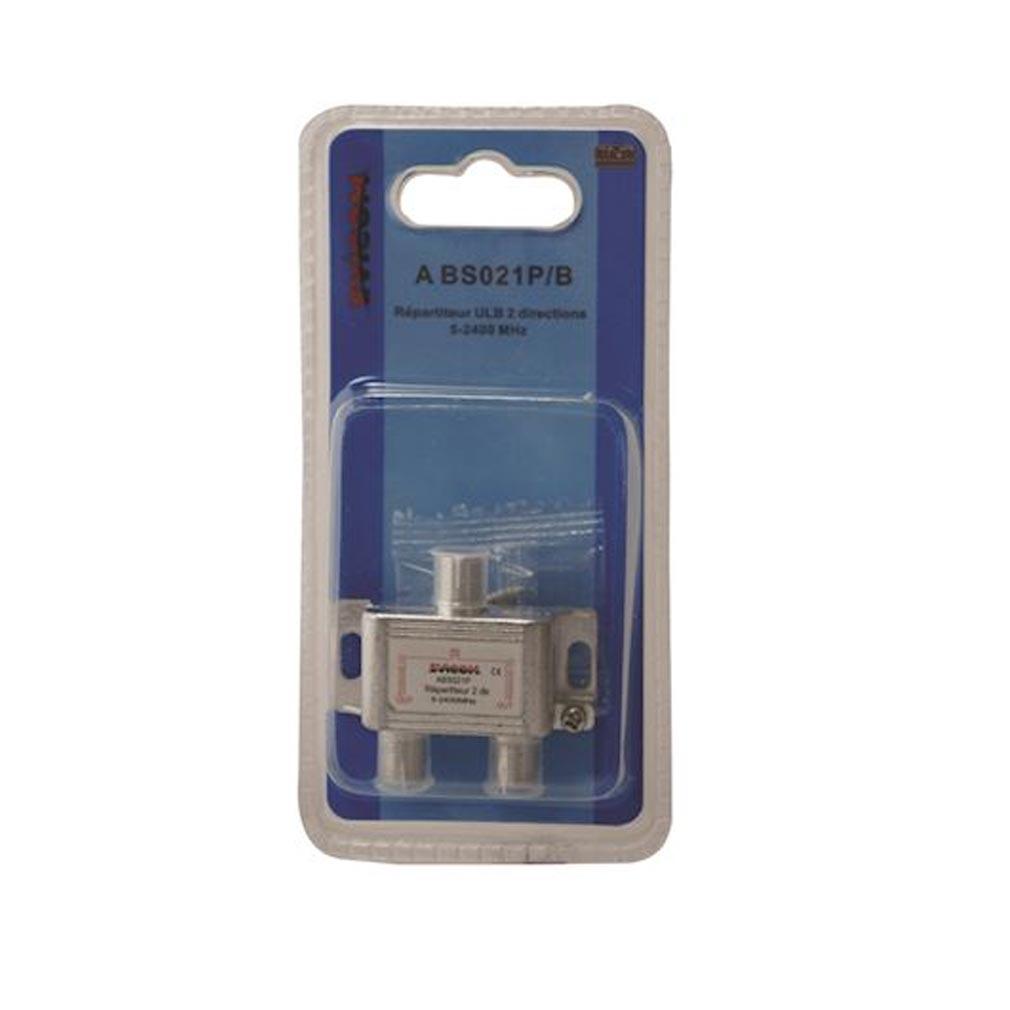 Evicom - EVCABS021PB - EVICOM   ABS021P/B -  Répartiteur 5 - 2.300 MHz 2 sorties sous blister