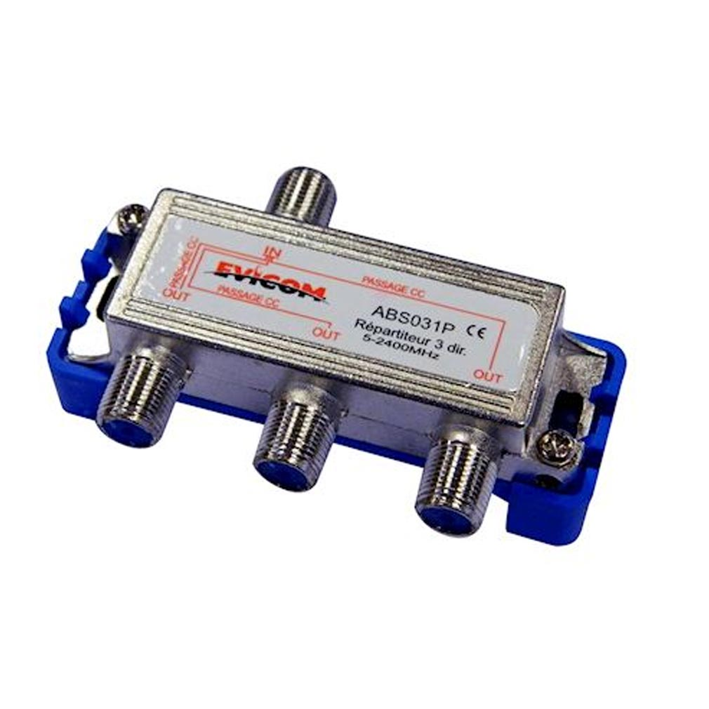 Evicom - EVCABS031P - EVICOM  ABS031P -  Répartiteur 5 - 2.300 MHz 3 sorties