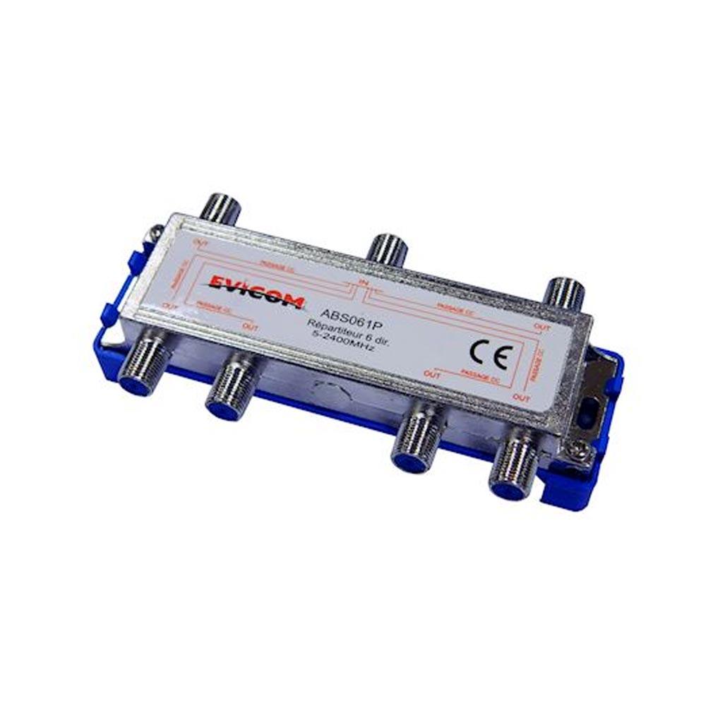 Evicom - EVCABS061P - EVICOM ABS061P -  Répartiteur 5 - 2 300 MHz 6 sorties