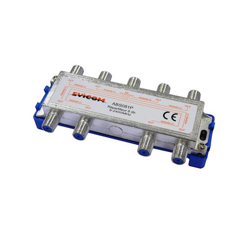 Evicom - EVCABS081P - EVICOM ABS081P -  Répartiteur 5 - 2 300 MHz 8 sorties
