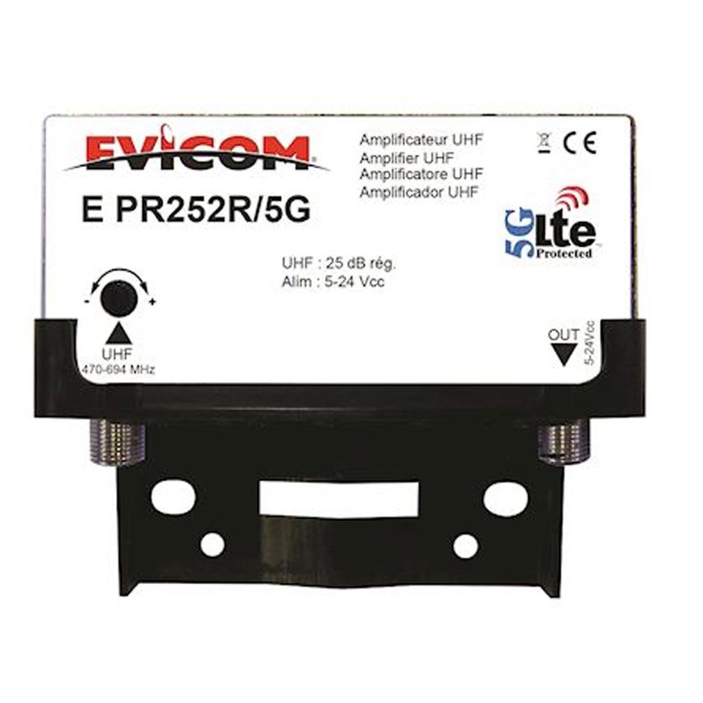 Evicom - EVCEPR252R5G - EVICOM EPR252R/5G - Préamplificateur UHF LTE-5G 1 entrée 25 dB réglables
