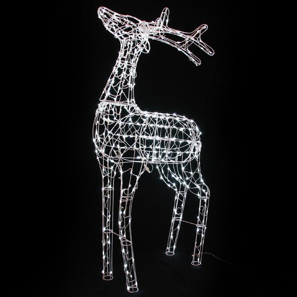 Festiligh - FEH40300T0 -  REINDEER - Renne debout H1,20m LED Blanc