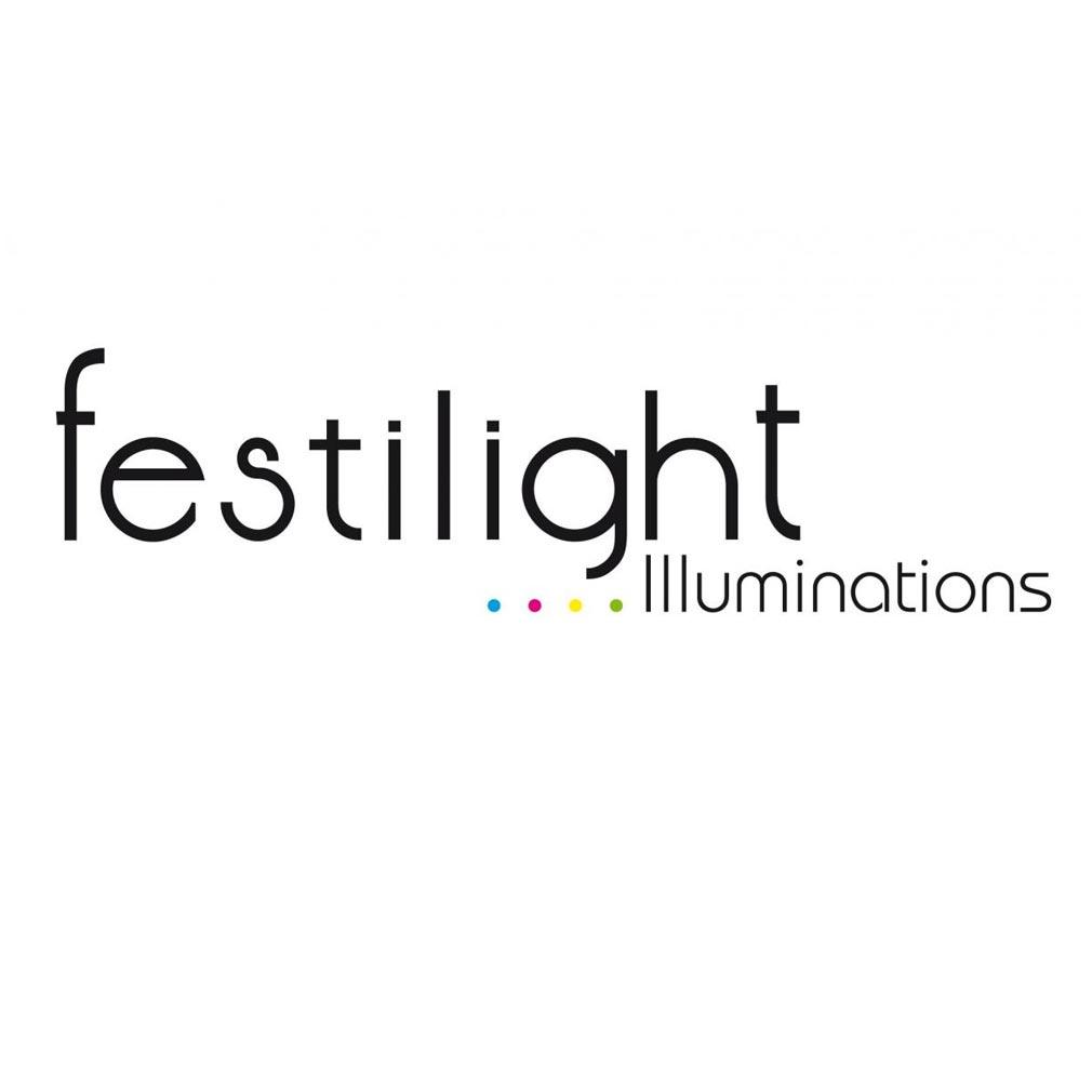 Festiligh - FEH53110TP3 -  STALACTITE-Rideau L10m x H40cm LED Bleu pétillant 31V
