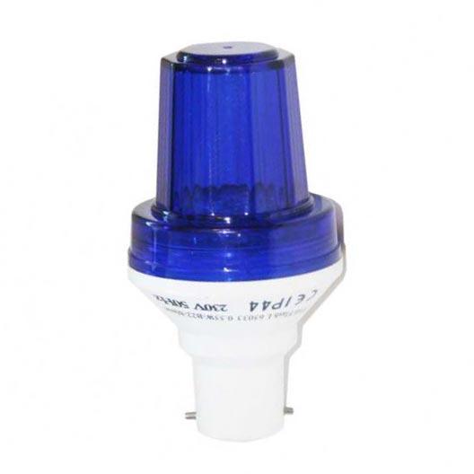 Festiligh - FEH65004 -  Lampe Flash B22 Claire Caps Bleu - 4 Watts
