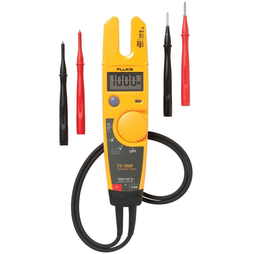 Fluke - FLET51000EUR1 - FLUKE T5-1000 - TESTEUR/PINCE 1000V/100A (MACHOIRE OUVERTE)