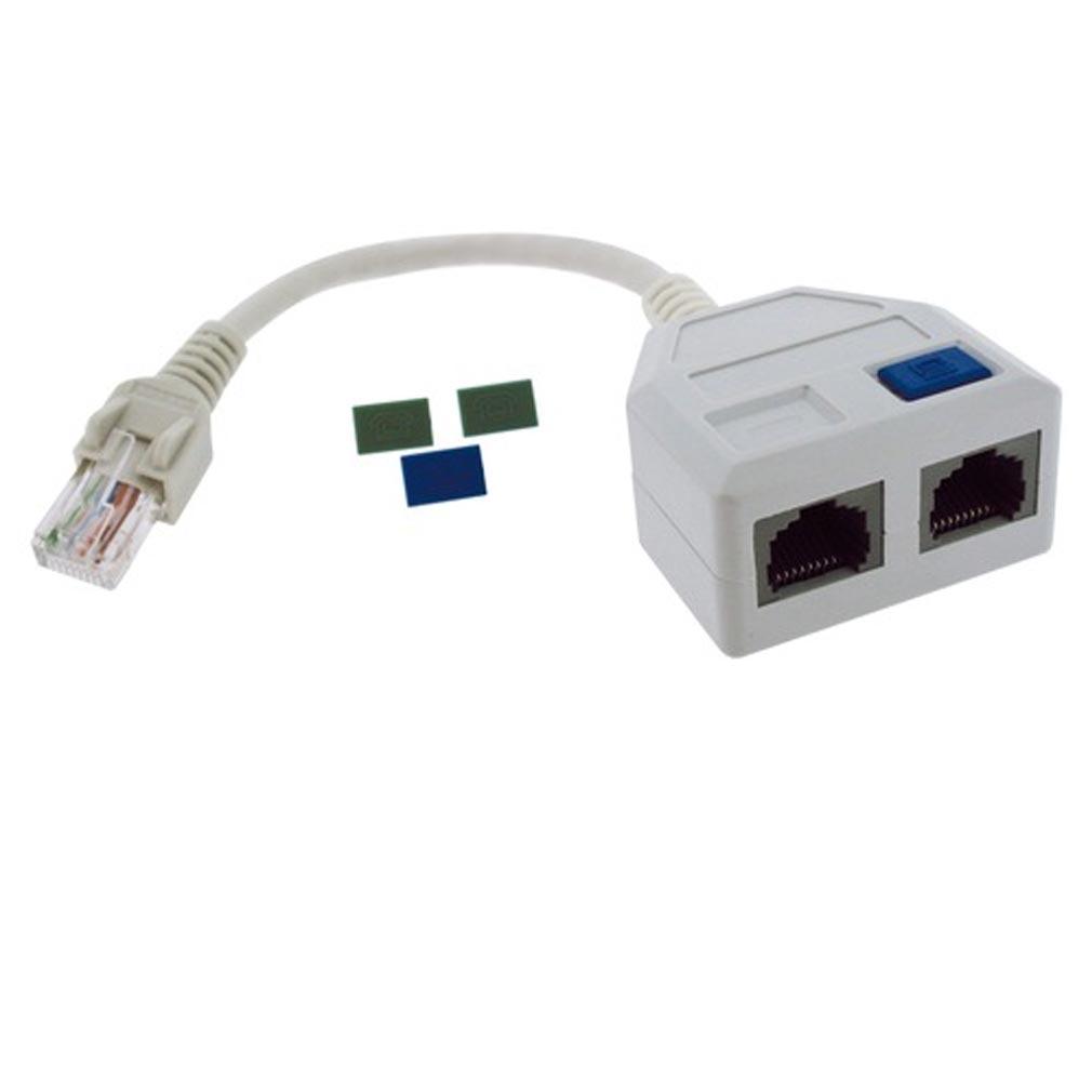Gigamedia - GGMC2XFETH568 - GIGAMEDIA C2XFETH568 - CORDON DOUBLEUR FTP ETH/ETH 568