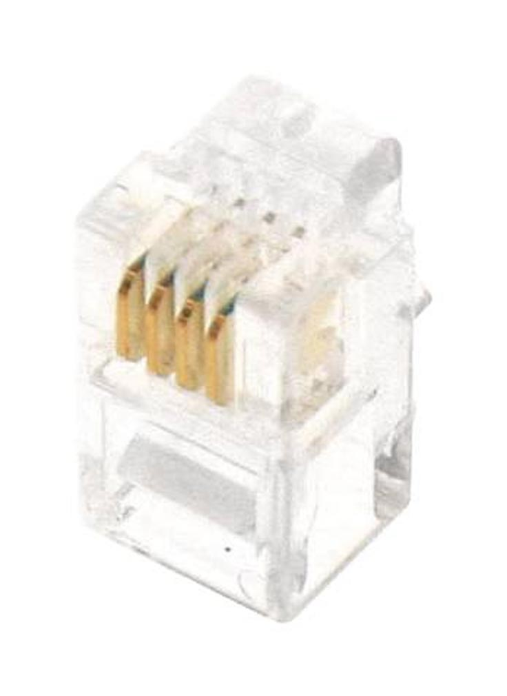 Gigamedia - GGMMJ6P4C - GIGAMEDIA MJ6P4C - Lot de 10 connecteurs modular 6 points / 4 contacts CAT3
