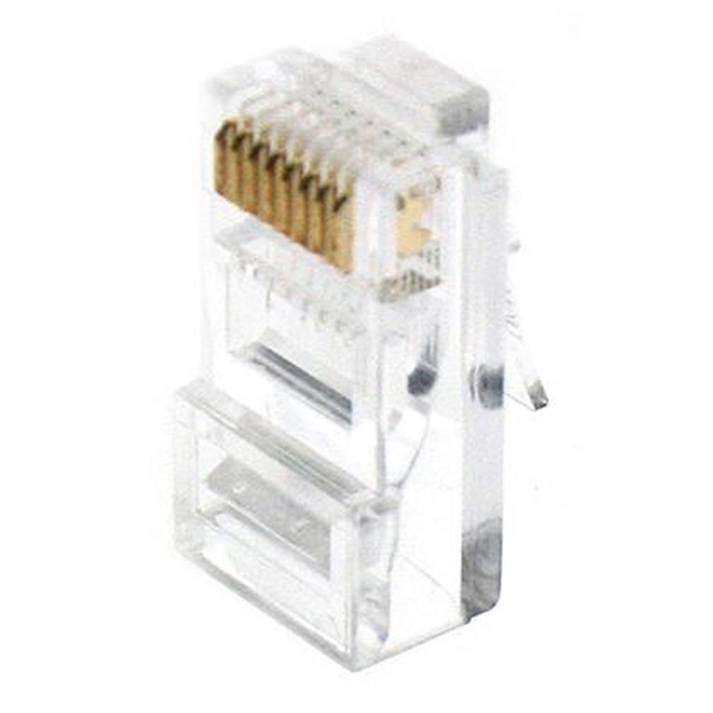 Gigamedia - GGMMJ8P8C100 - GIGAMEDIA MJ8P8C100 - Lot de 100 connecteurs modular 8 points / 8 contacts CAT5e/CAT6