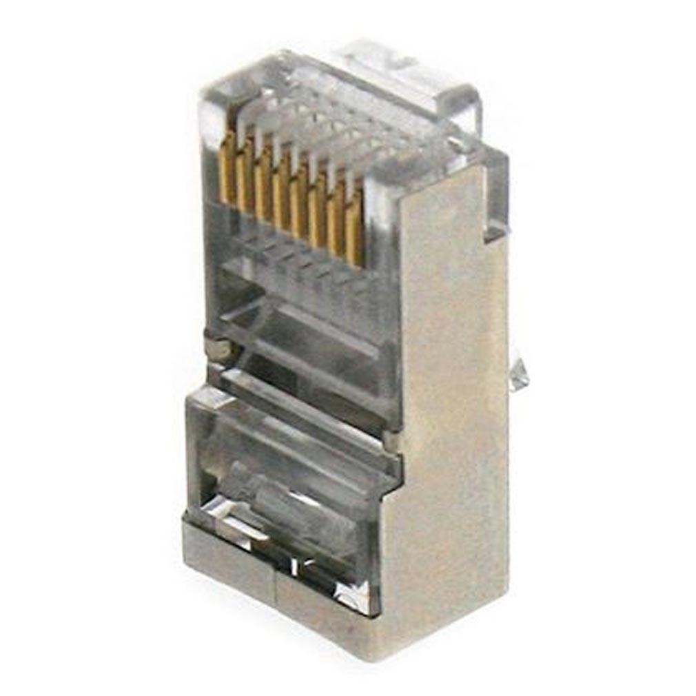Gigamedia - GGMMJ8PB8C100 - GIGAMEDIA MJ8PB8C100 - Lot de 100 connecteurs modular 8 points / 8 contacts blindés CAT5e/CAT6