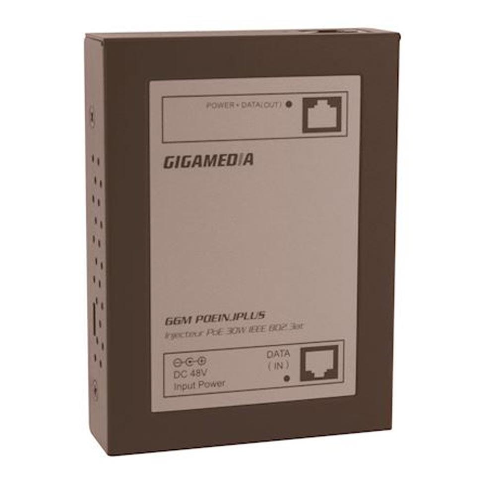 Gigamedia - GGMPOEINJPLUS - GIGAMEDIA POEINJPLUS - Injecteur PoE+ 30W (métal) - 1 port Gigabit