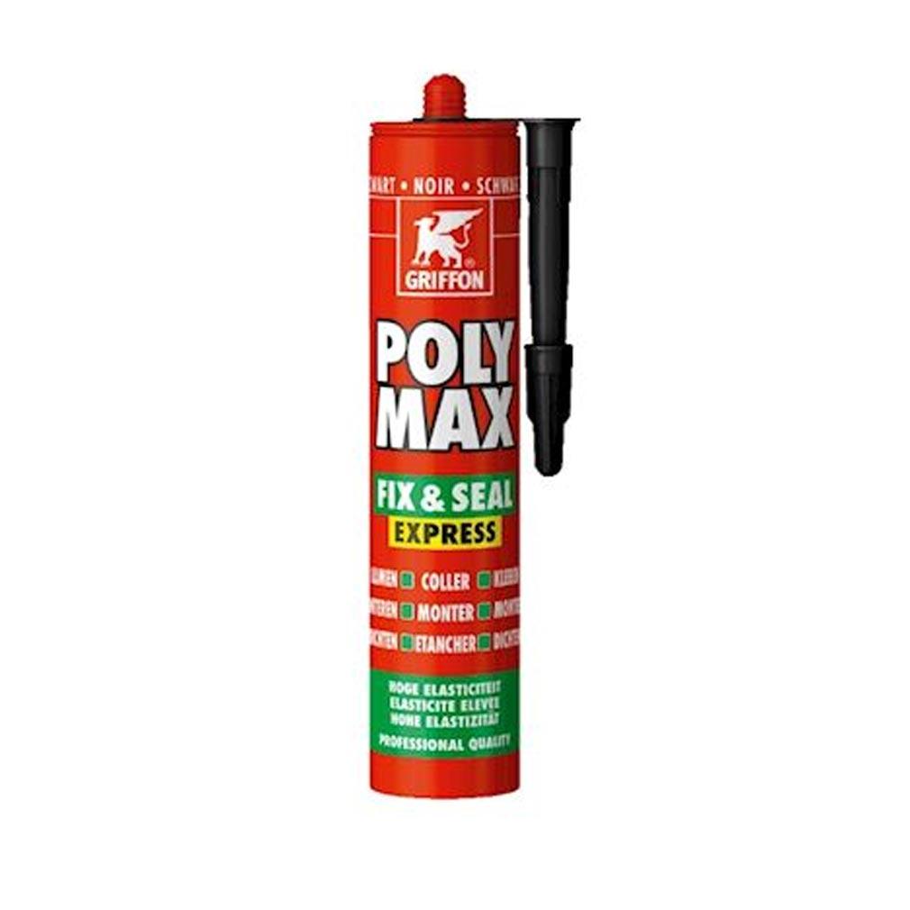 Griffon f - GF26150454 - POLY MAX FIX&SEAL EXPRESS NOIR, CART 425GR, MASTIC ET COLLE