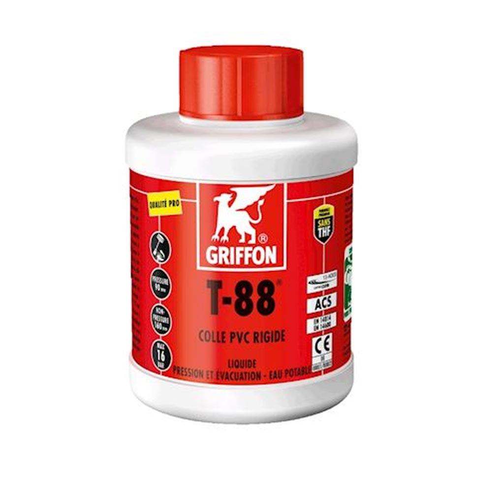 Griffon f - GF26302441 - GRIFON 6302441 -  T-88 Colle PVC liquide spéciale Eau Potable 500ml
