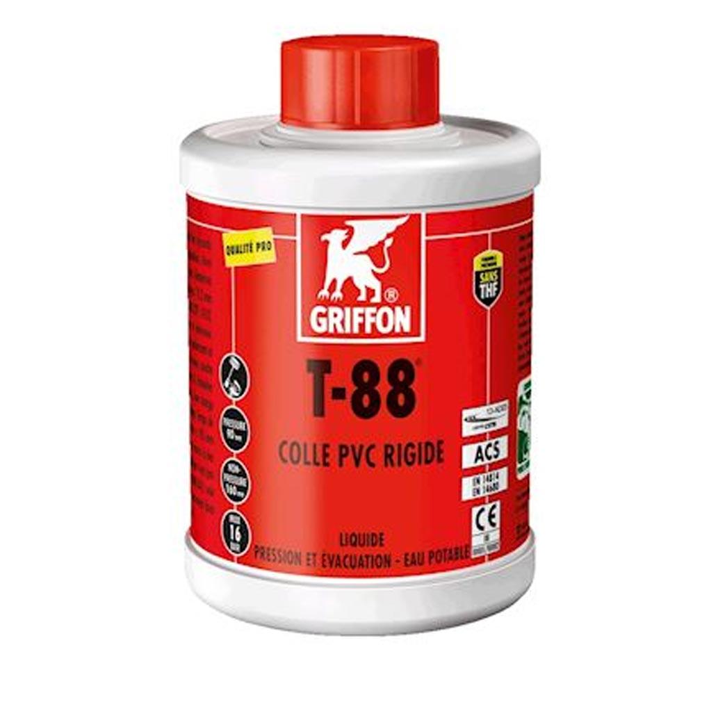 Griffon f - GF26302443 - GRIFON 6302443 -   T-88 Colle PVC liquide spéciale Eau Potable 1L