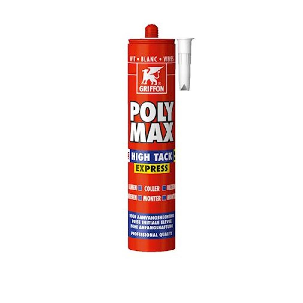 Griffon f - GF26303764 - POLYMAX HIGH TACK EXPRESS BLANC, CART 435GR, COLLE DE MONTAG