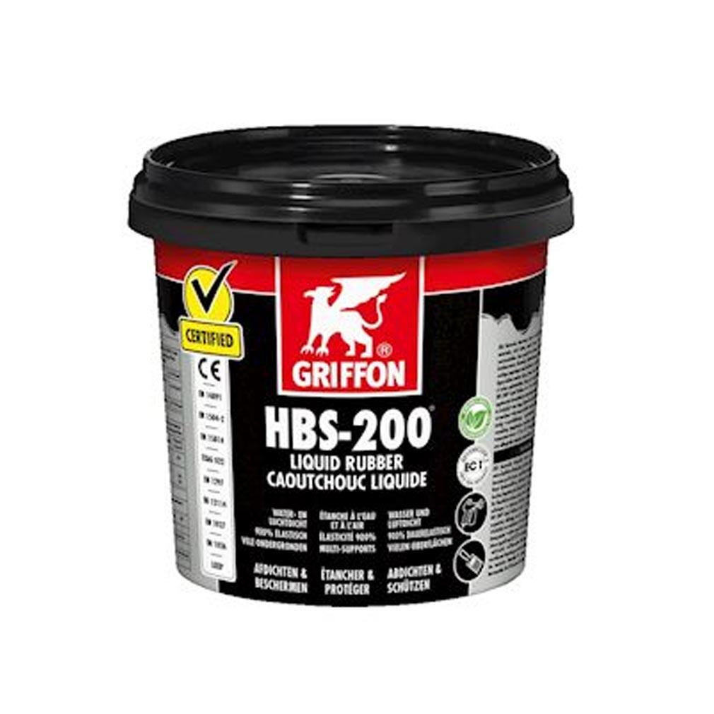 Griffon f - GF26308866 - GRIFON 6308866 -  HBS-200 Caoutchouc liquide 1L, étanchéifier les surfaces à l'eau et à l'air