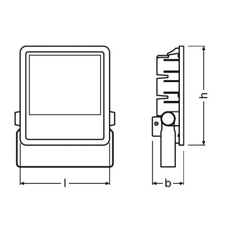 Ledvance - OSR001190 - OSRAM 001190  - PROJECTEUR LED 200W/4000K NOIR IP65 LEDV