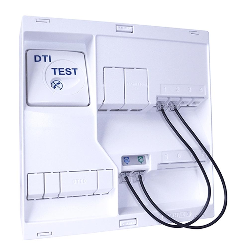 Michaud - MIHLB117 - MICHAUD LB117 - Tableau de communication NÉO Grd1 - 4 RJ45 DTI+ filtre + TV 2S