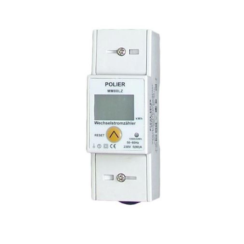 Polier in - POIMM80LZ - POLIER MM80LZ -  Compteur Modulaire Monophasé 80A avec RAZ simple tarif CE