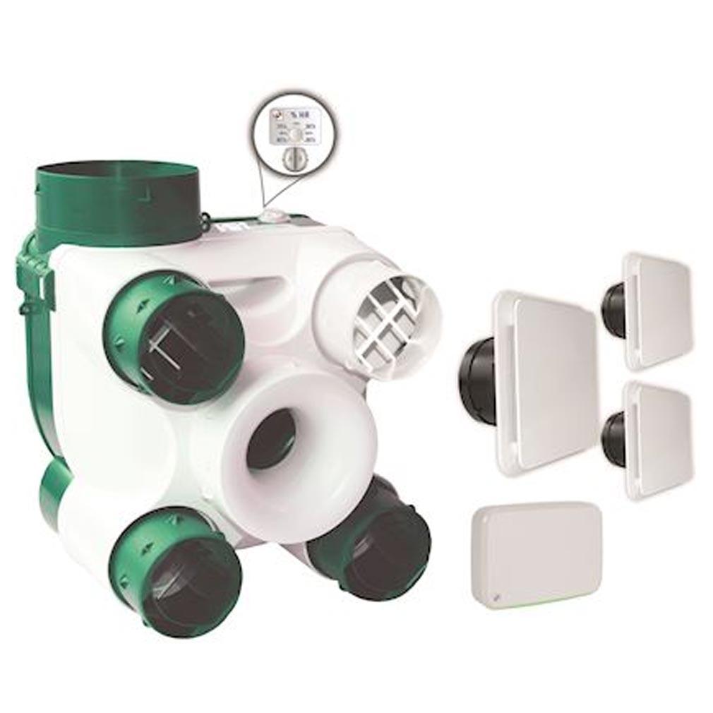 S&P - UNE604142 - UNELVENT 604142 -  DECOSERENITEK - Kit VMC équipé de sondes de Qualité d'Air Intérieur et thermo-hygroréglable