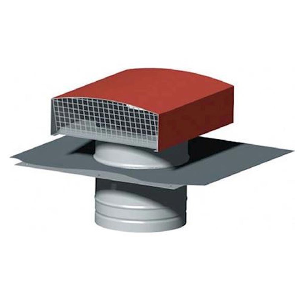 S&P - UNE870075 - UNELVENT 870075 -  Chapeau de toiture métallique, D 200 mm, rejet 900 m3/h, asp 600 m3/h, tuile