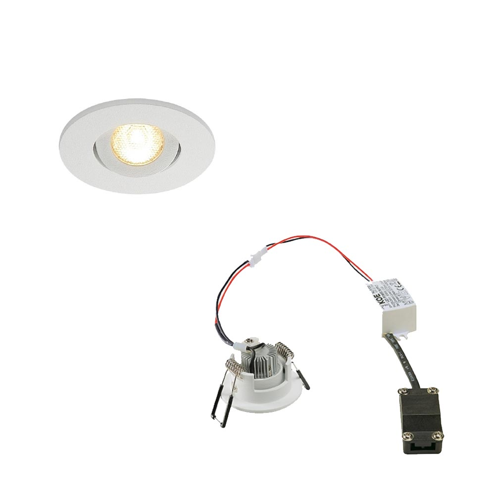Slv - DC5113971 - KIT NEW TRIA MINI LED ROND BLANC 3000K 30DEG ALIM & CLIPS RE
