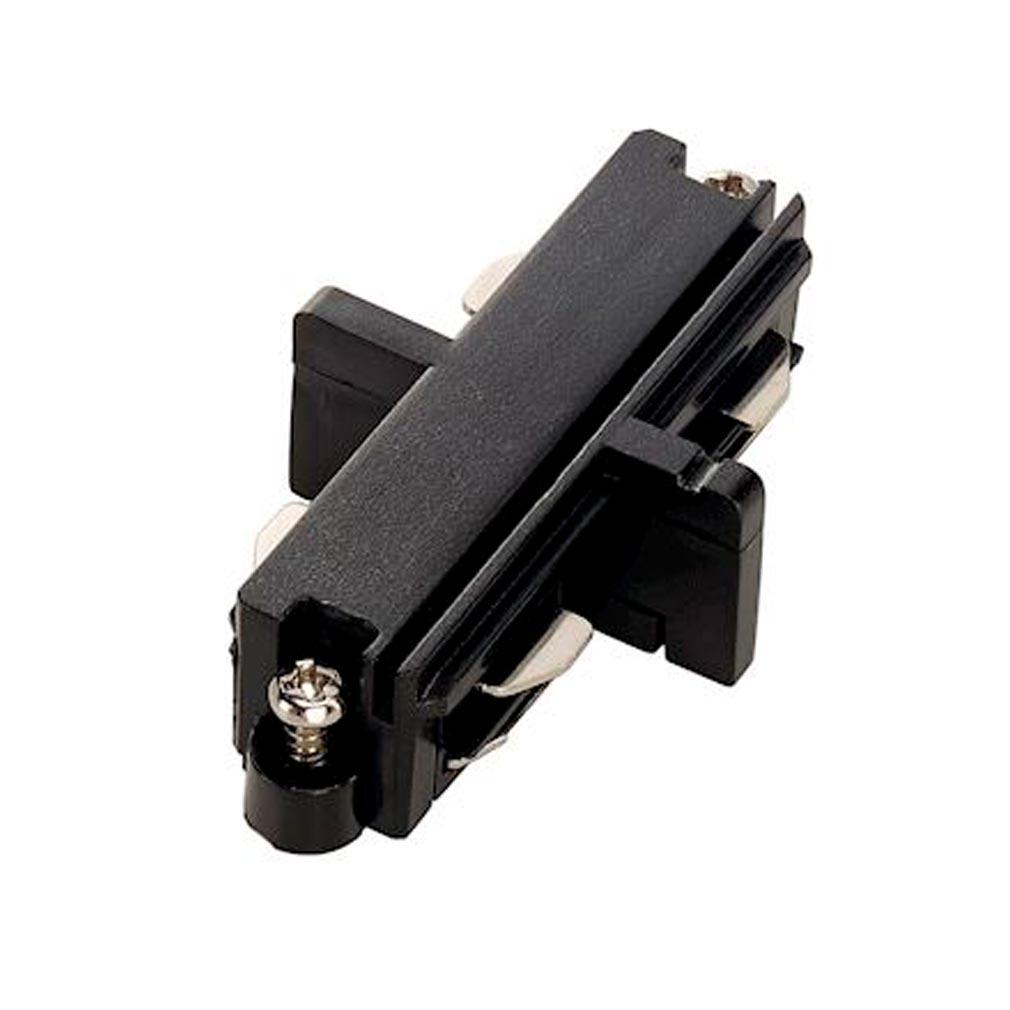 Slv - DC5143090 - SLV 143090 -  Connecteur droit pour rail 1 allumage 16A max, noir, électrique